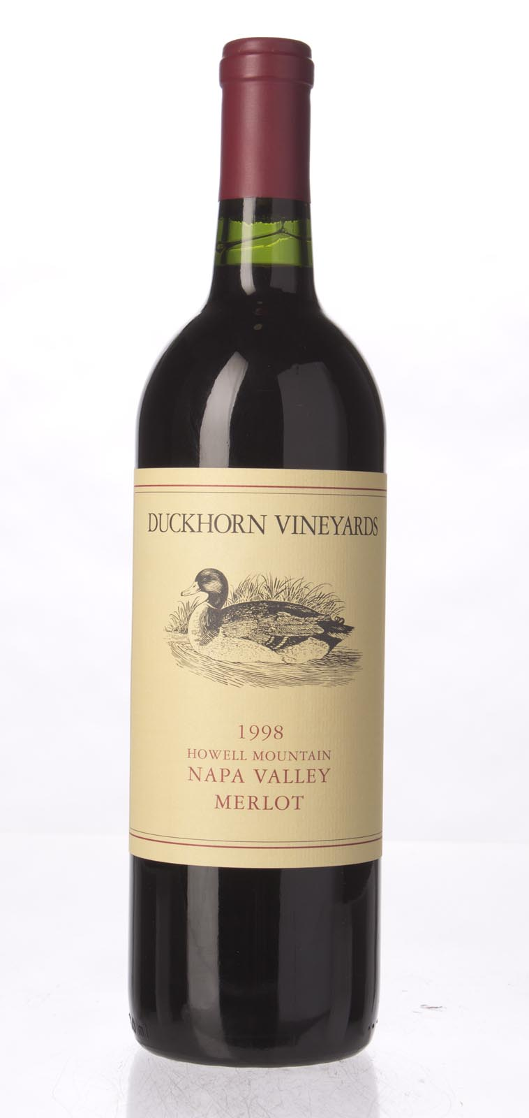 Duckhorn Merlot Howell Mountain 1998, 750mL () from The BPW - Merchants of rare and fine wines.