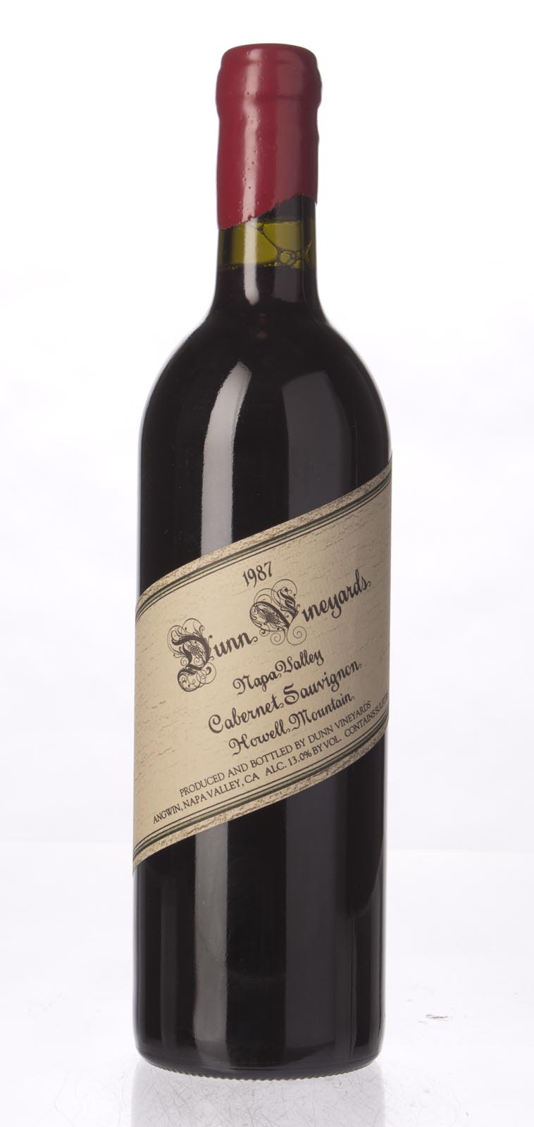 Dunn Cabernet Sauvignon Howell Mountain 1987, 750mL (WS97) from The BPW - Merchants of rare and fine wines.