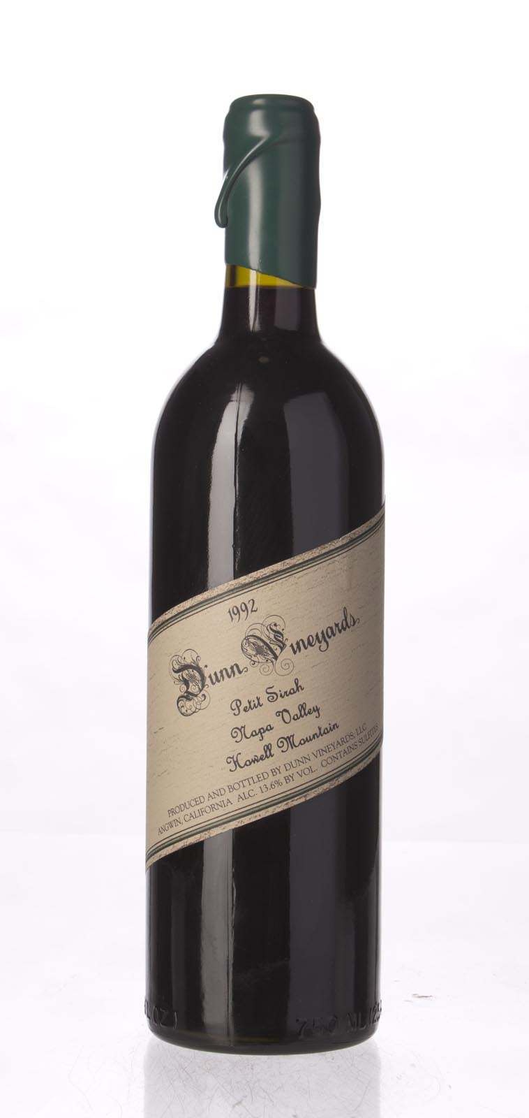 Dunn Petite Sirah Howell Mountain 1992, 750mL () from The BPW - Merchants of rare and fine wines.