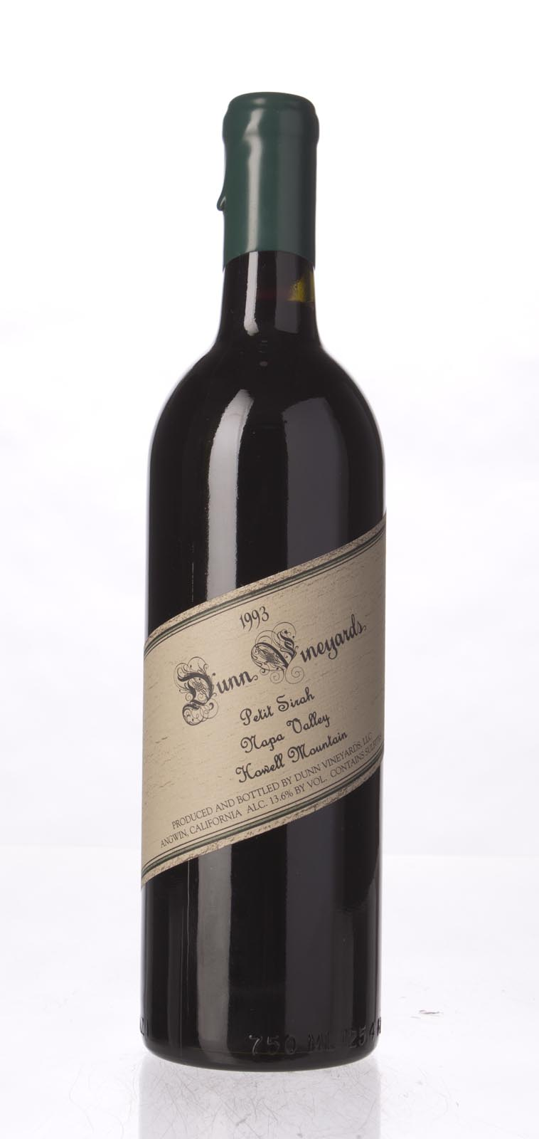 Dunn Petite Sirah Howell Mountain 1993, 750mL () from The BPW - Merchants of rare and fine wines.