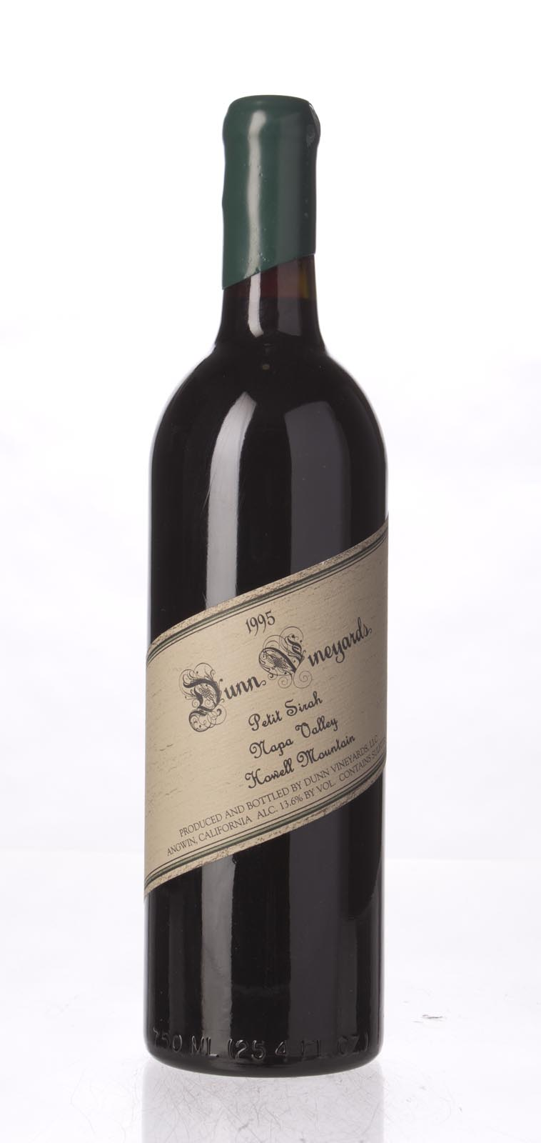 Dunn Petite Sirah Howell Mountain 1995, 750mL () from The BPW - Merchants of rare and fine wines.