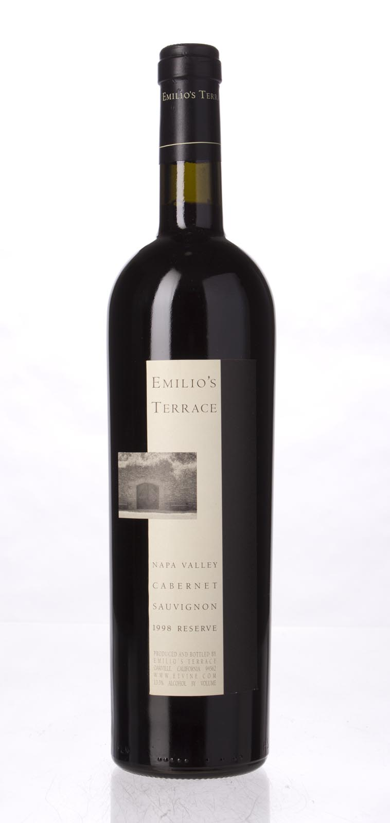 Emilio`s Terrace Cabernet Sauvignon Reserve 1998, 750mL () from The BPW - Merchants of rare and fine wines.