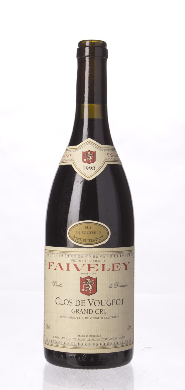 Faiveley Clos Vougeot 1998, 750ml (ST90) from The BPW - Merchants of rare and fine wines.