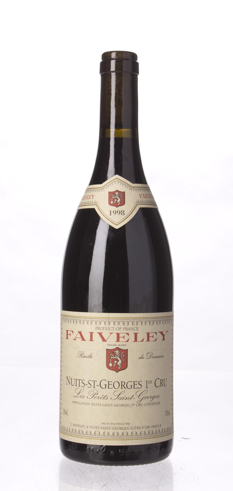 Faiveley Nuits St. Georges les Porets St. Georges 1998, 750ml () from The BPW - Merchants of rare and fine wines.