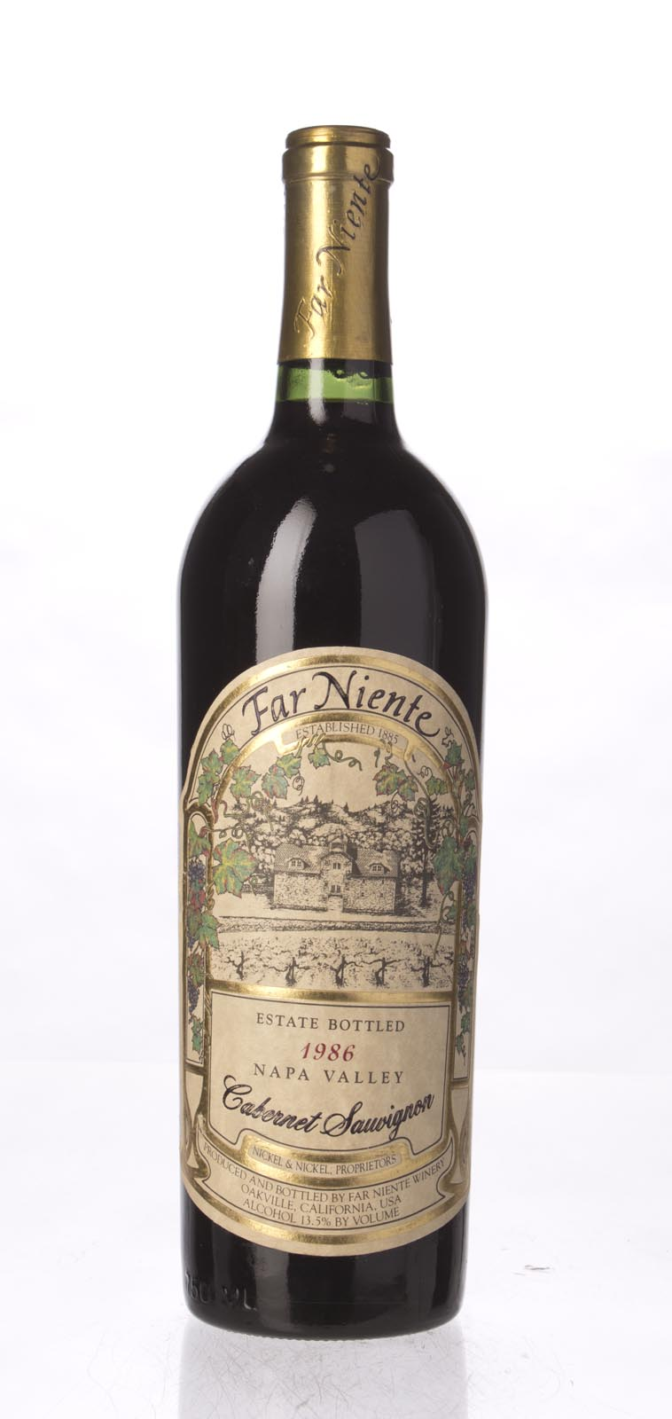 Far Niente Cabernet Sauvignon 1986, 750mL (WS91) from The BPW - Merchants of rare and fine wines.