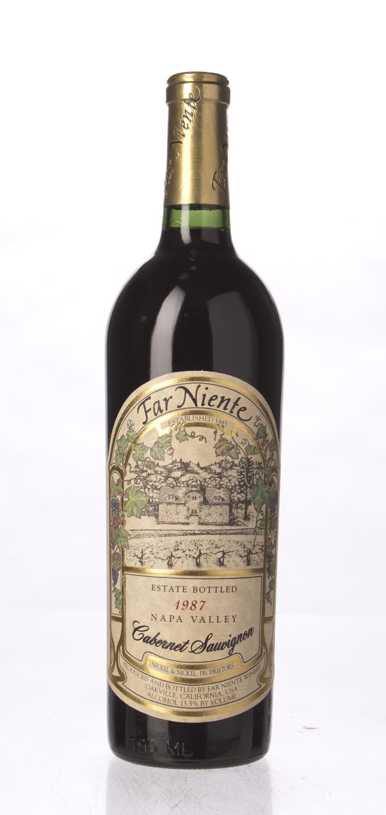 Far Niente Cabernet Sauvignon 1987, 750mL (WS91) from The BPW - Merchants of rare and fine wines.