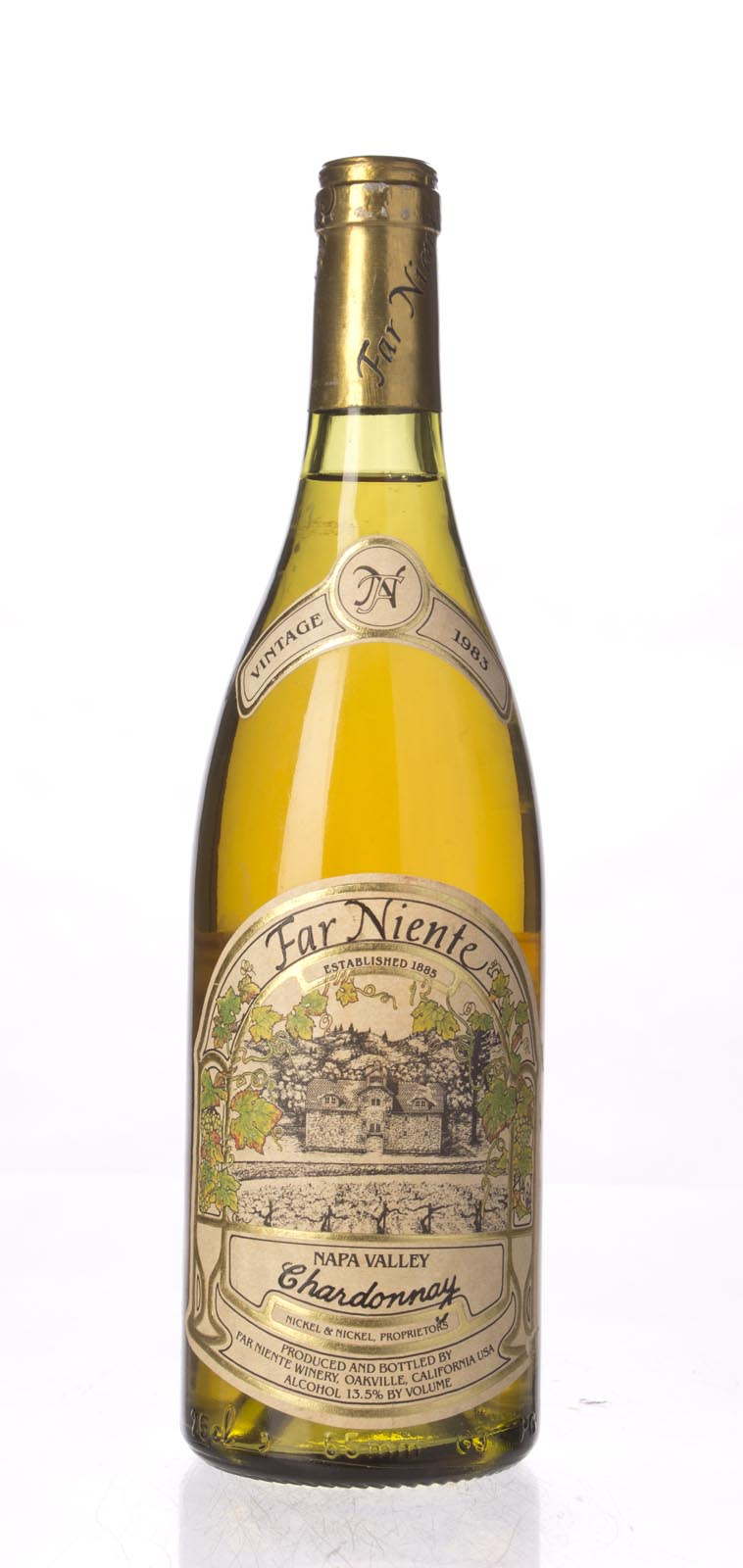 Far Niente Chardonnay Napa Valley 1983, 750mL () from The BPW - Merchants of rare and fine wines.