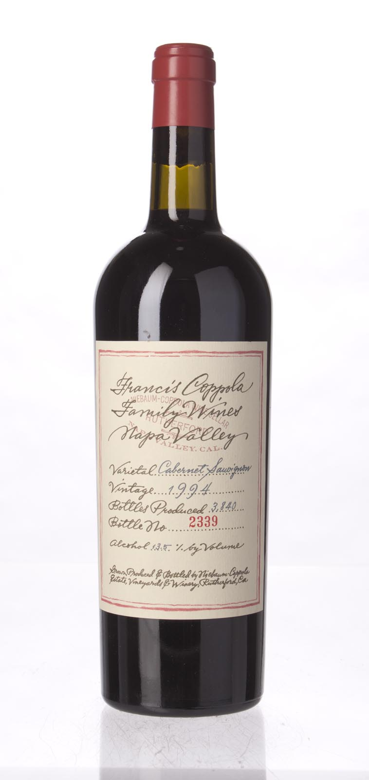 Francis Coppola Cabernet Sauvignon Napa Valley 1994, 750mL () from The BPW - Merchants of rare and fine wines.