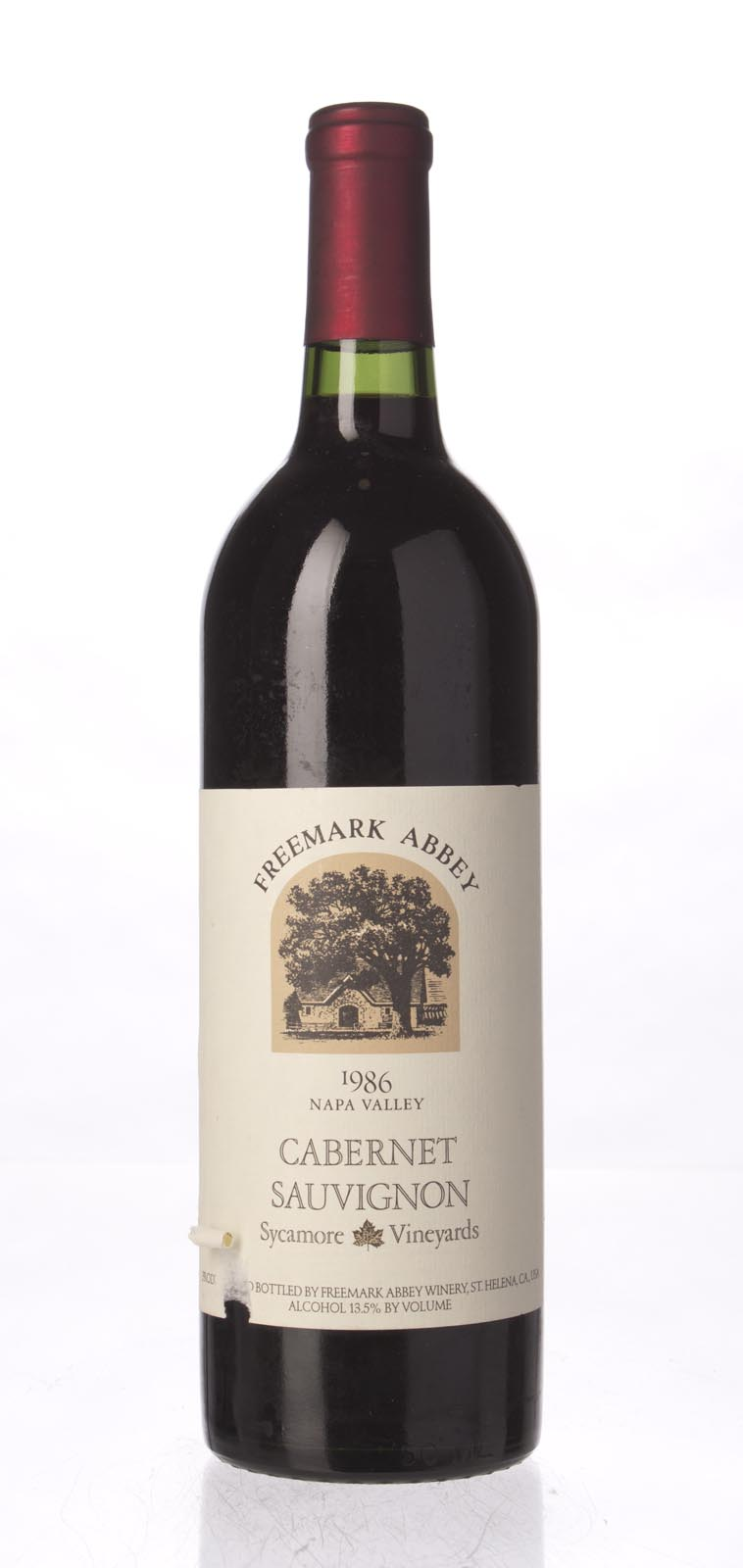 Freemark Abbey Cabernet Sauvignon Sycamore Vineyard 1986, 750mL (WS91) from The BPW - Merchants of rare and fine wines.