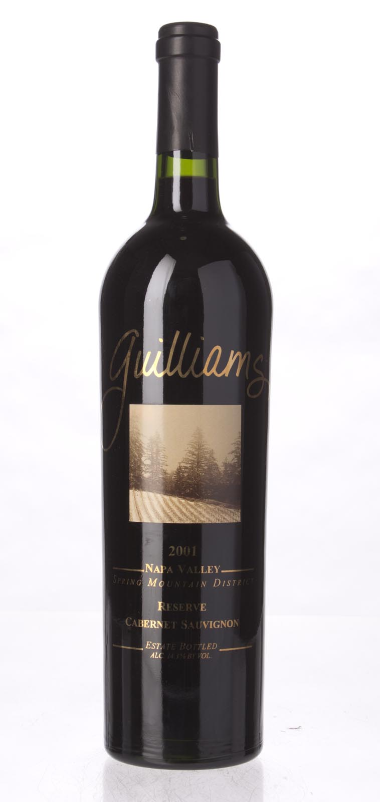 Guilliams Cabernet Sauvignon Reserve 2001, 750mL () from The BPW - Merchants of rare and fine wines.
