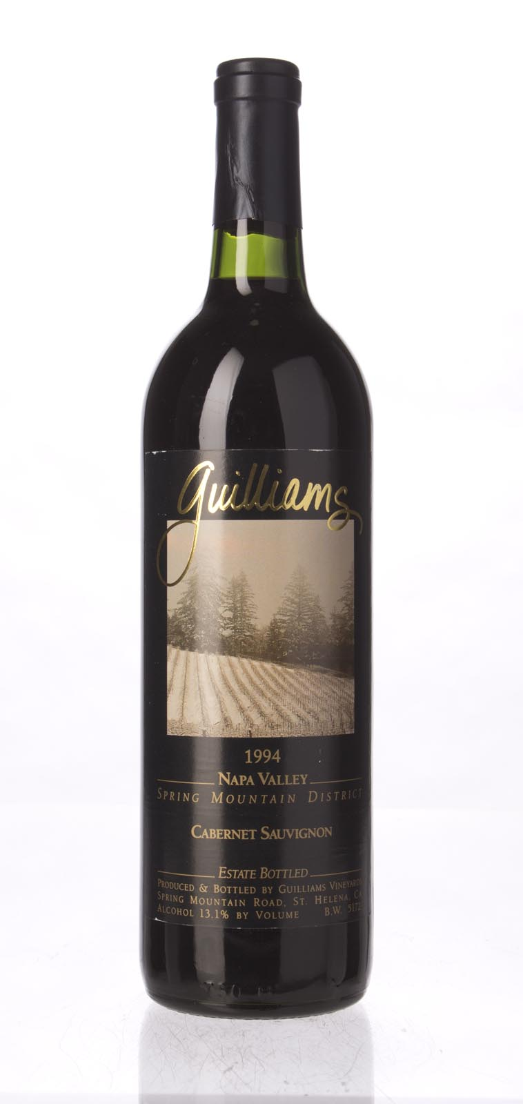 Guilliams Cabernet Sauvignon Spring Mountain 1994, 750ml () from The BPW - Merchants of rare and fine wines.
