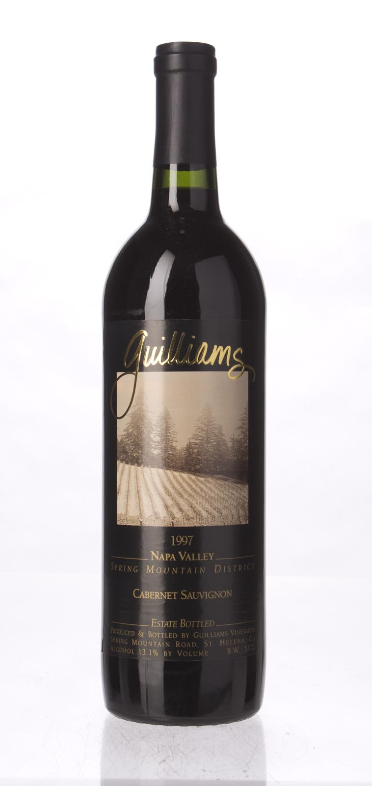 Guilliams Cabernet Sauvignon Spring Mountain 1997, 750mL () from The BPW - Merchants of rare and fine wines.