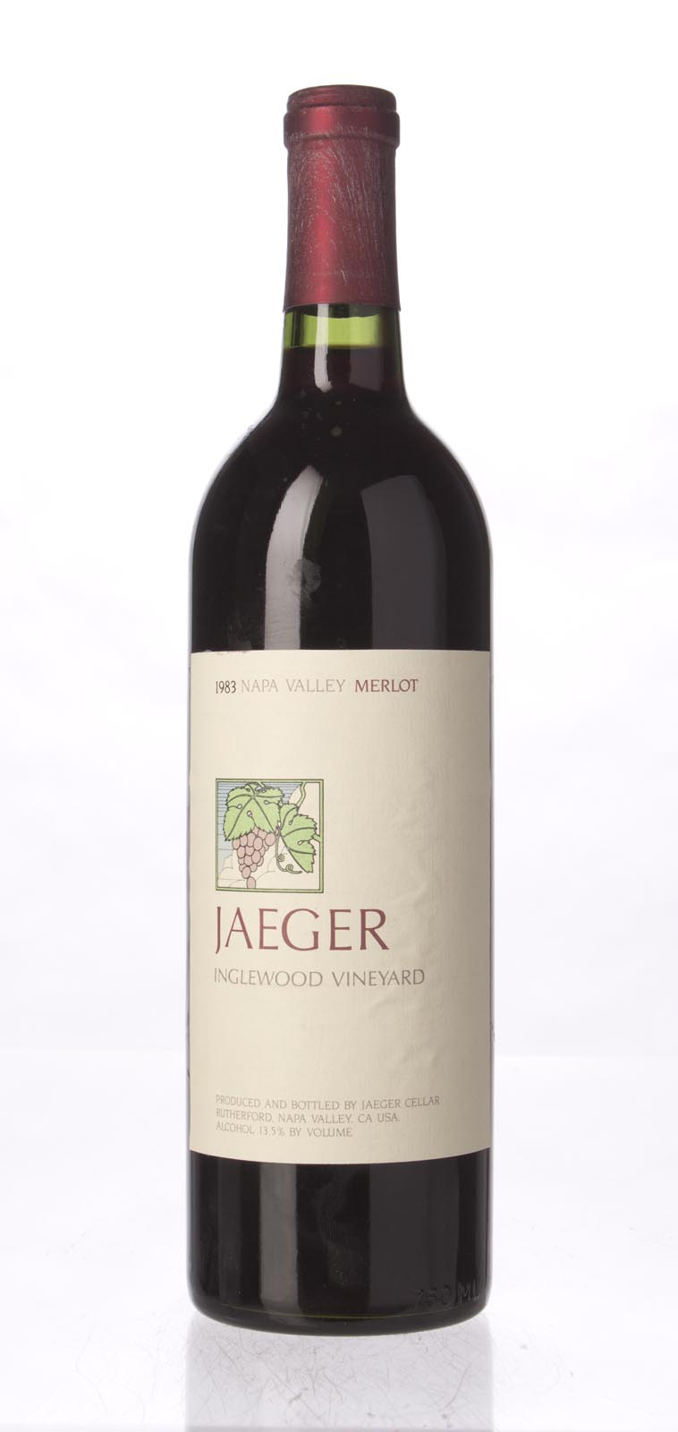 Jaeger Merlot Inglewood Vineyard 1983, 750mL () from The BPW - Merchants of rare and fine wines.
