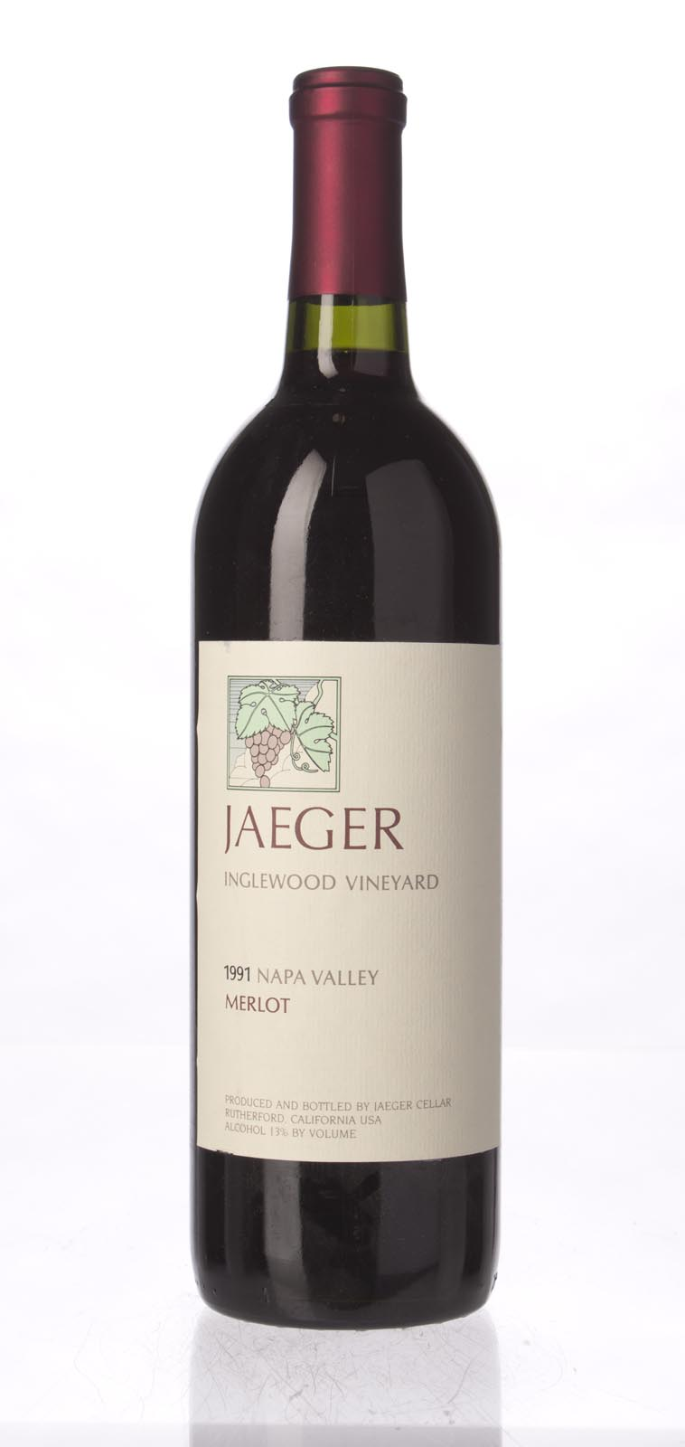 Jaeger Merlot Inglewood Vineyard 1991, 750mL () from The BPW - Merchants of rare and fine wines.