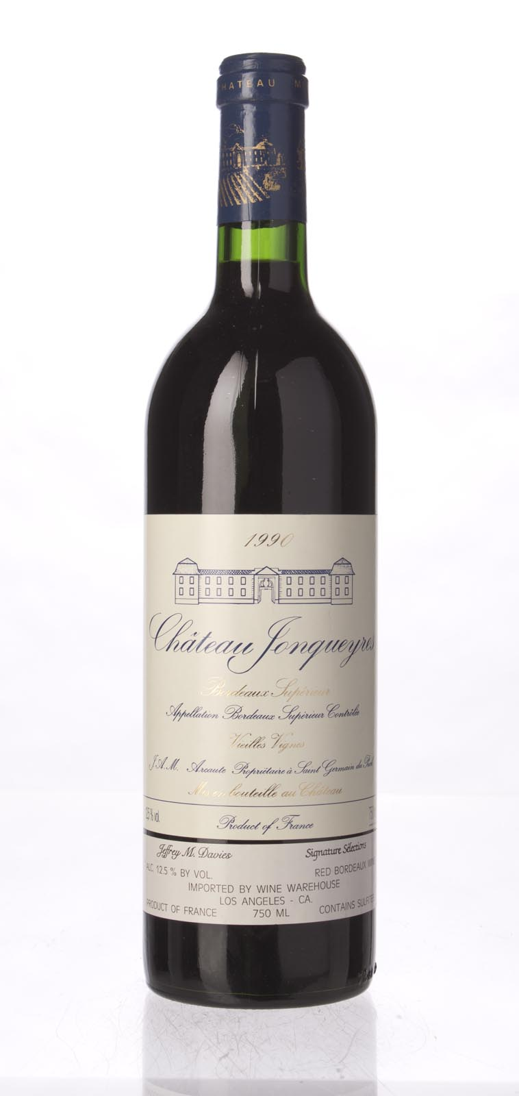 Jonqueyres Vieilles Vignes 1990, 750mL (WA89) from The BPW - Merchants of rare and fine wines.