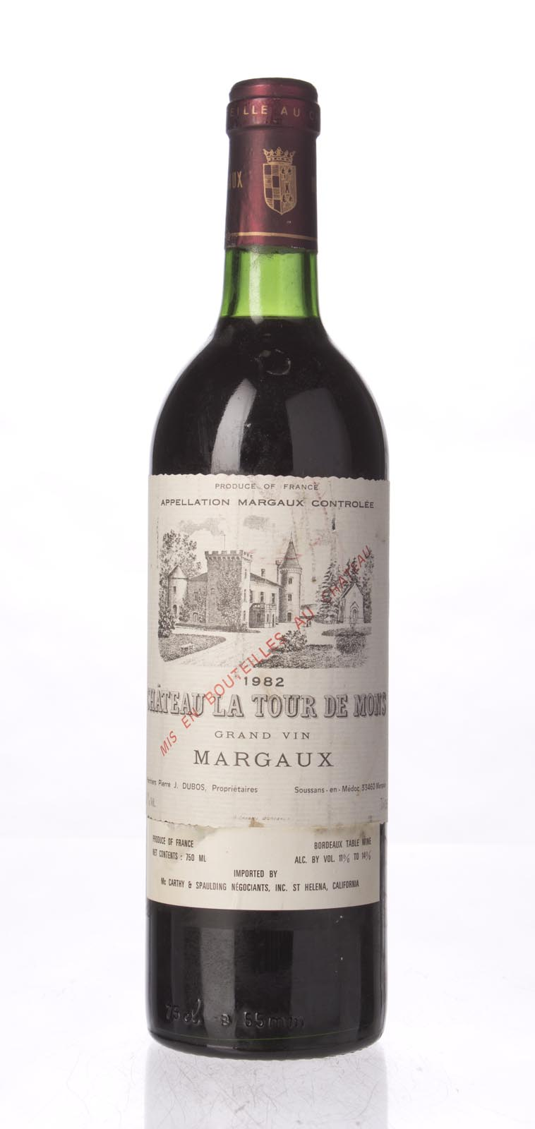 La Tour de Mons 1982, 750mL () from The BPW - Merchants of rare and fine wines.