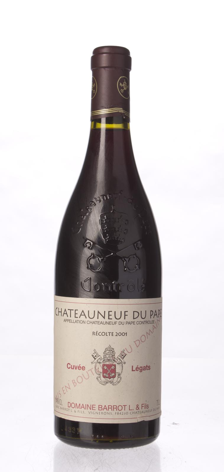 Lucien Barrot Chateauneuf du Pape Cuvee Legats 2001, 750mL () from The BPW - Merchants of rare and fine wines.