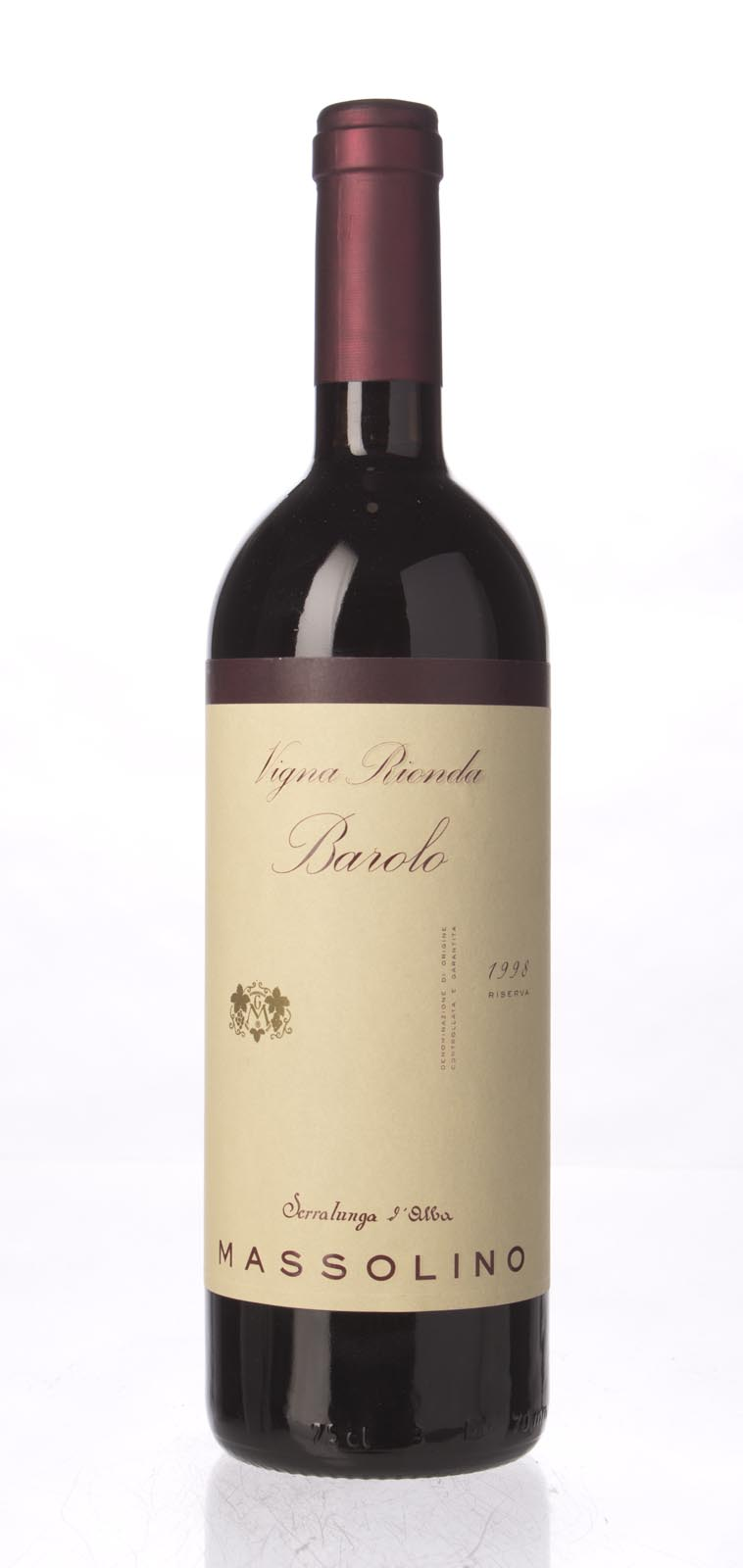Massolino Barolo Vigna Rionda Riserva 1998, 750mL (WS93) from The BPW - Merchants of rare and fine wines.