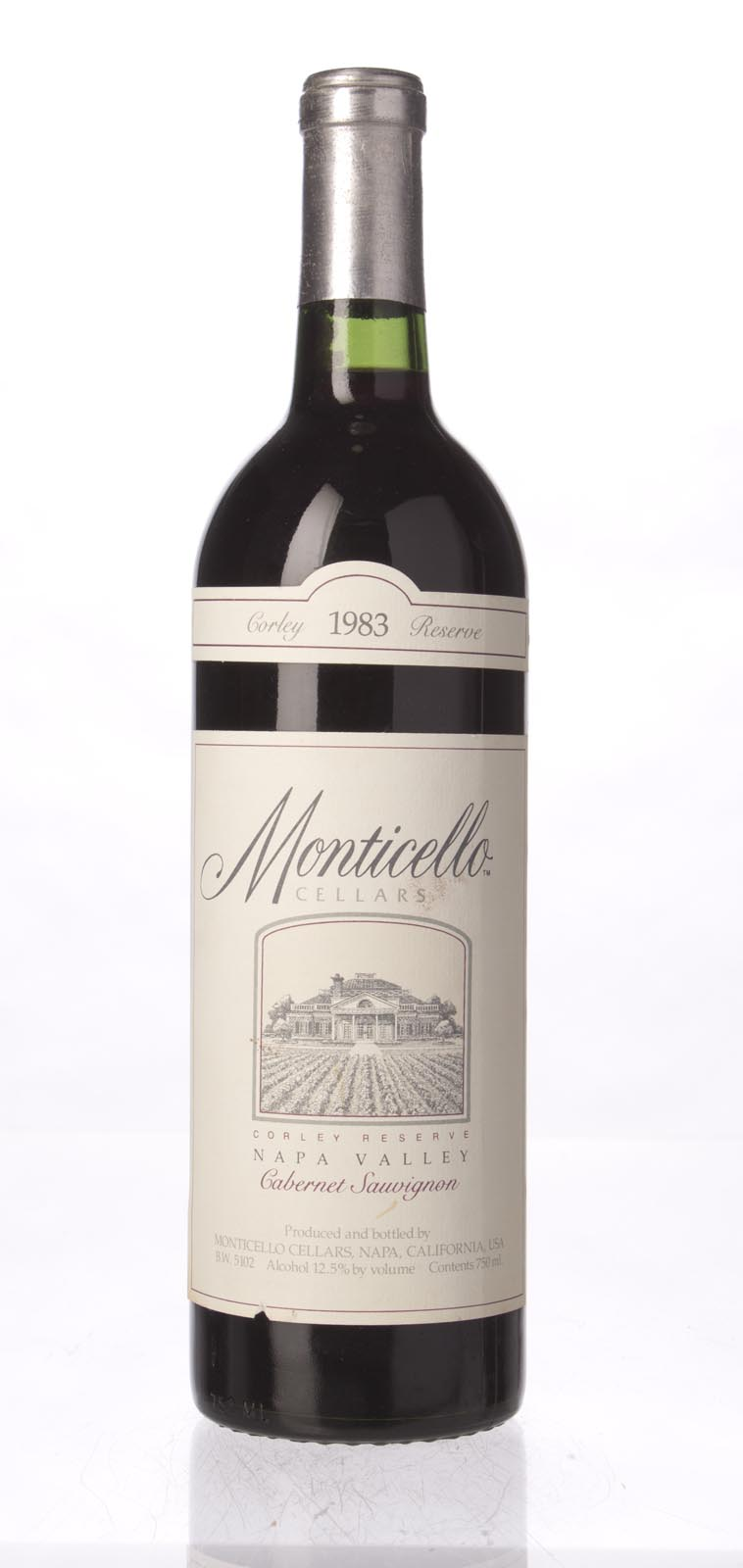 Monticello Vineyards Cabernet Sauvignon Corley Reserve 1983, 750mL () from The BPW - Merchants of rare and fine wines.