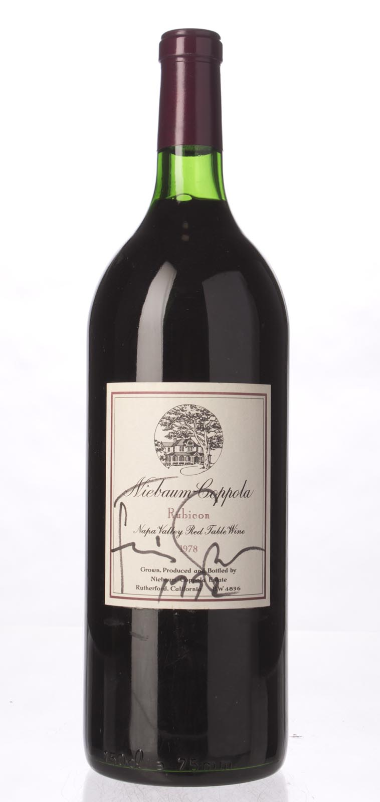 Niebaum Coppola Proprietary Red Rubicon 1978, 1.5L (WS88) from The BPW - Merchants of rare and fine wines.