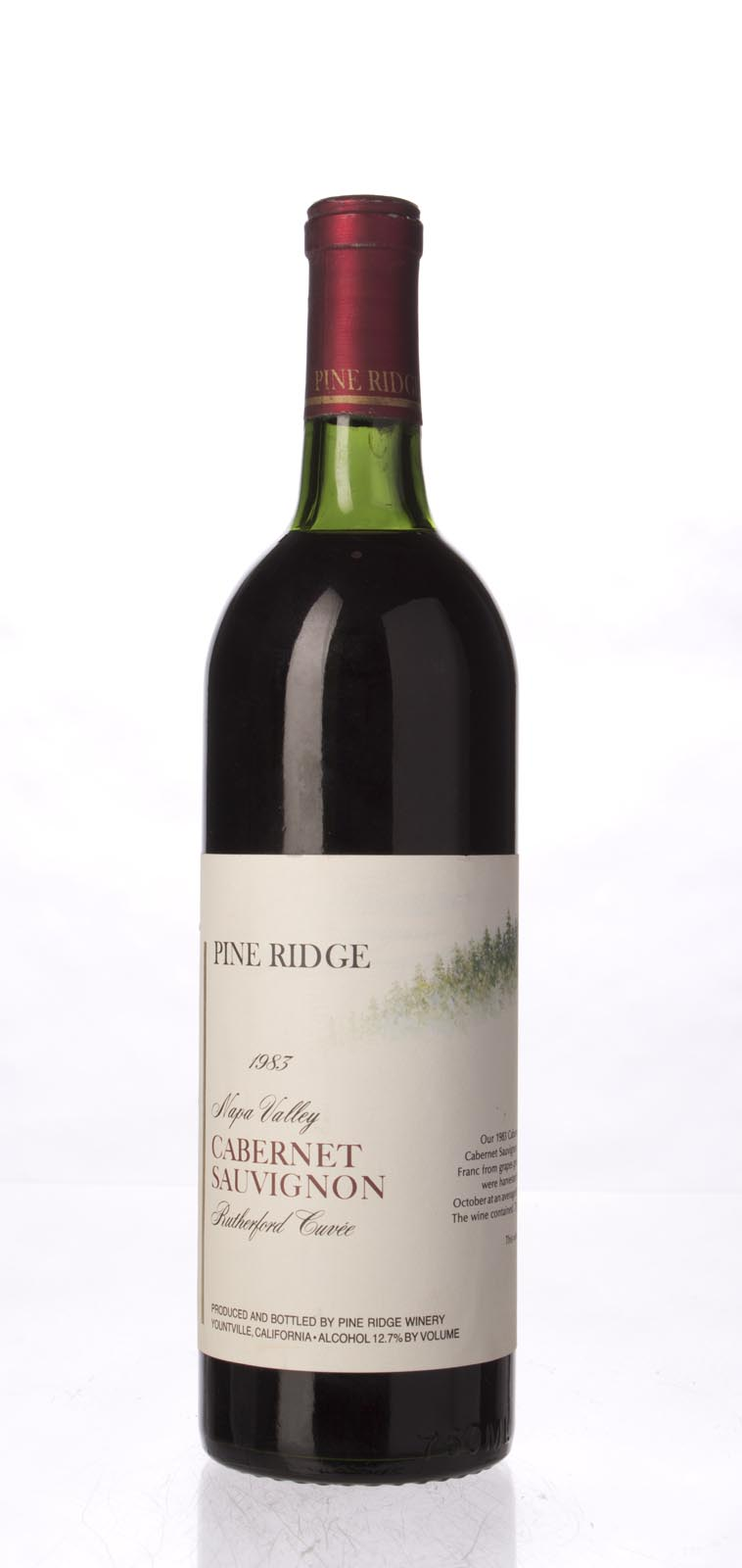 Pine Ridge Cabernet Sauvignon Rutherford 1983, 750mL () from The BPW - Merchants of rare and fine wines.