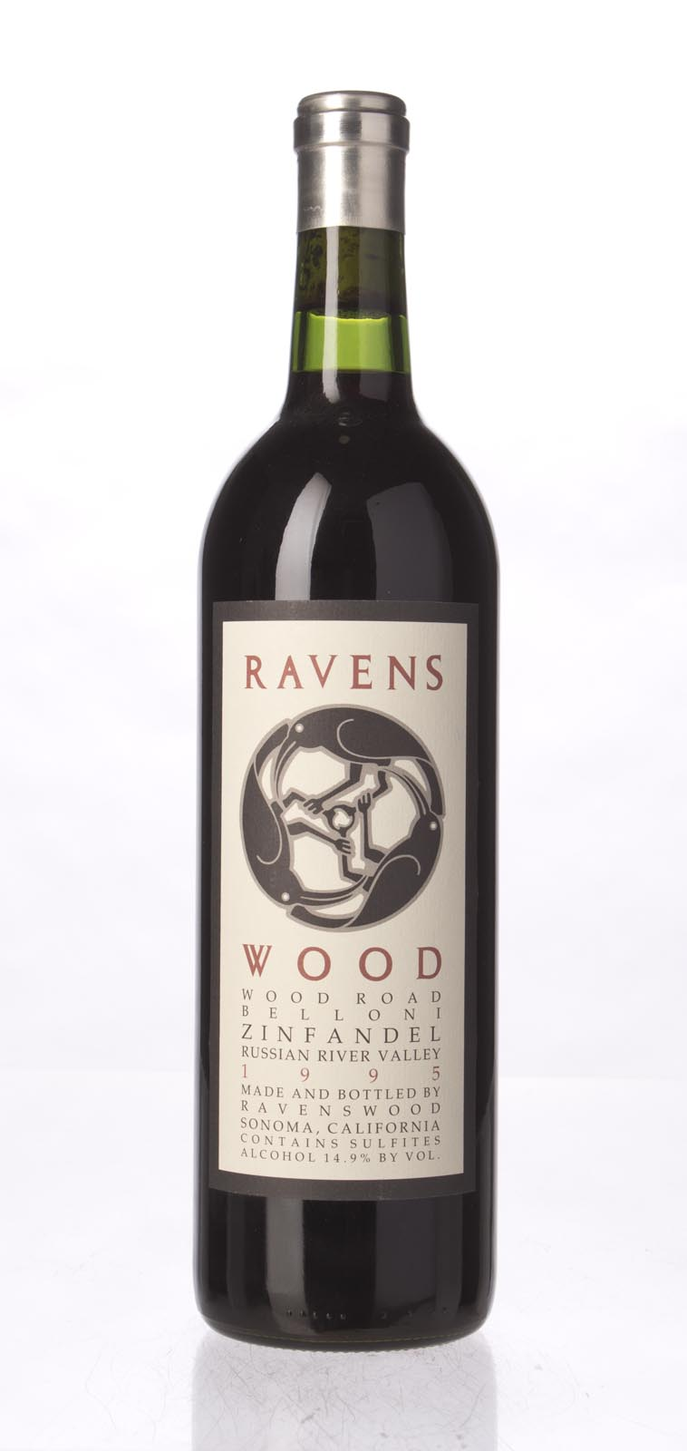 Ravenswood Zinfandel Wood Road Belloni 1995, 750ml (WA90) from The BPW - Merchants of rare and fine wines.