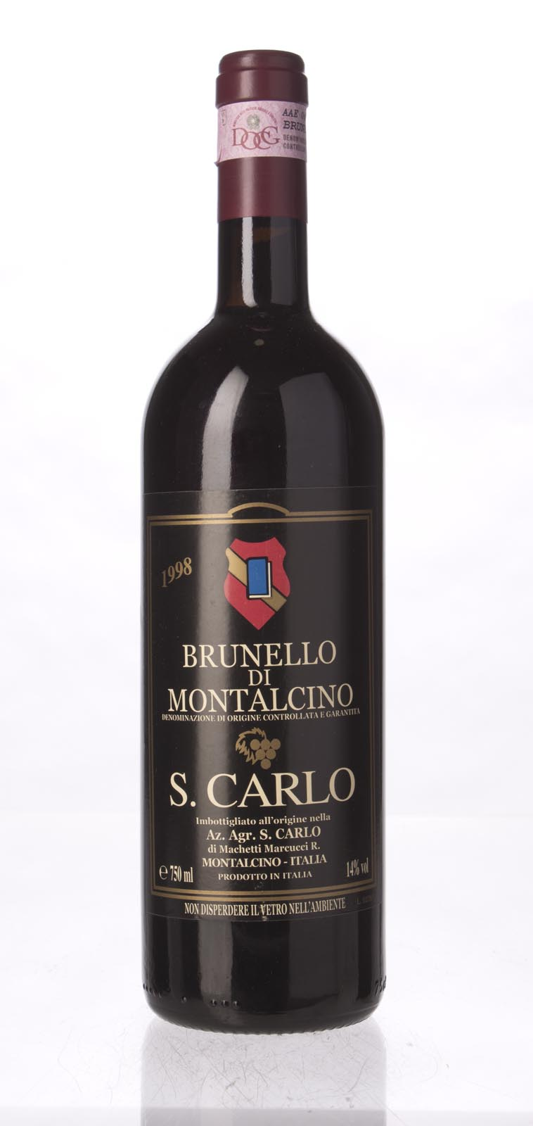 S. Carlo Brunello di Montalcino 1998, 750mL () from The BPW - Merchants of rare and fine wines.