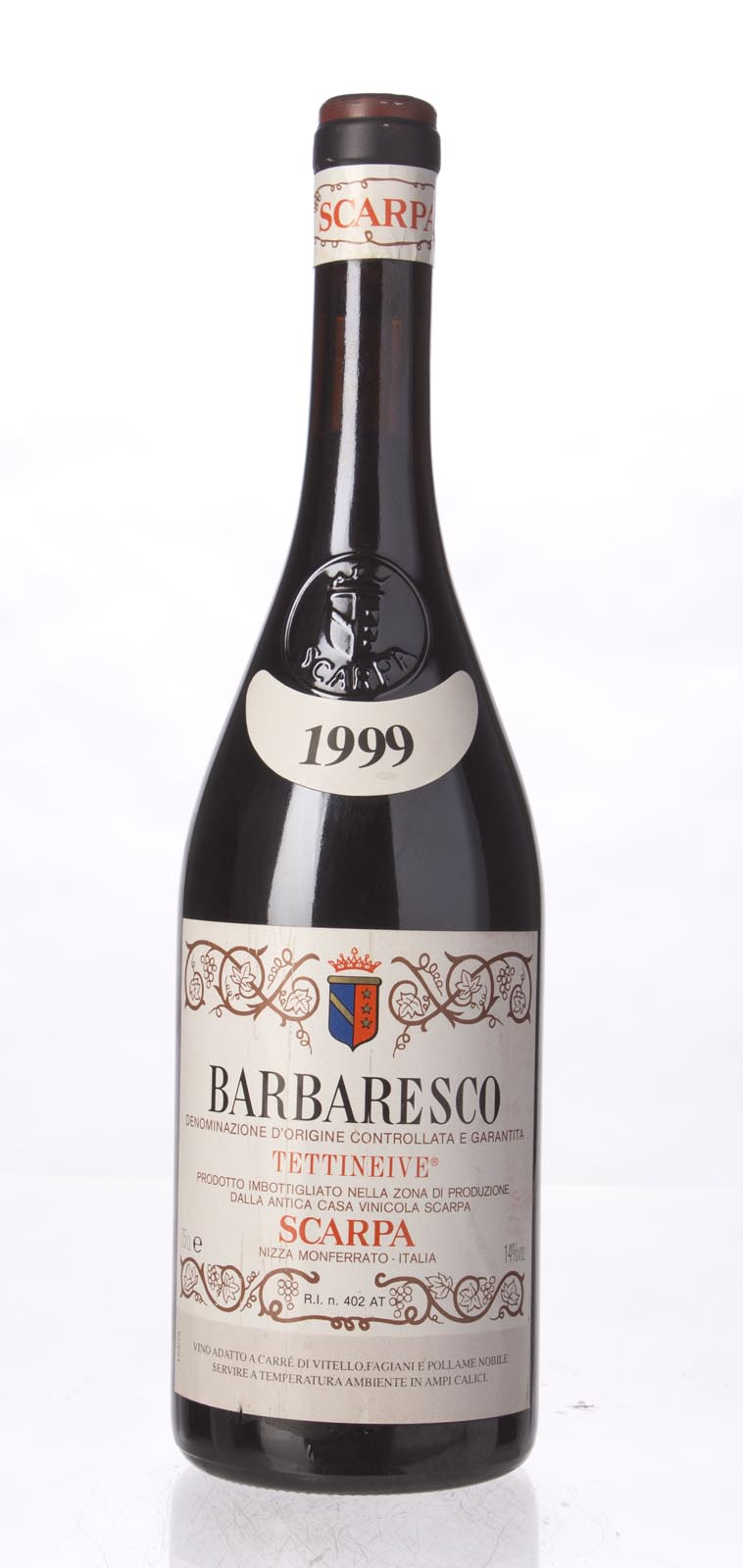 Scarpa Barbaresco Tettineive 1999, 750mL () from The BPW - Merchants of rare and fine wines.