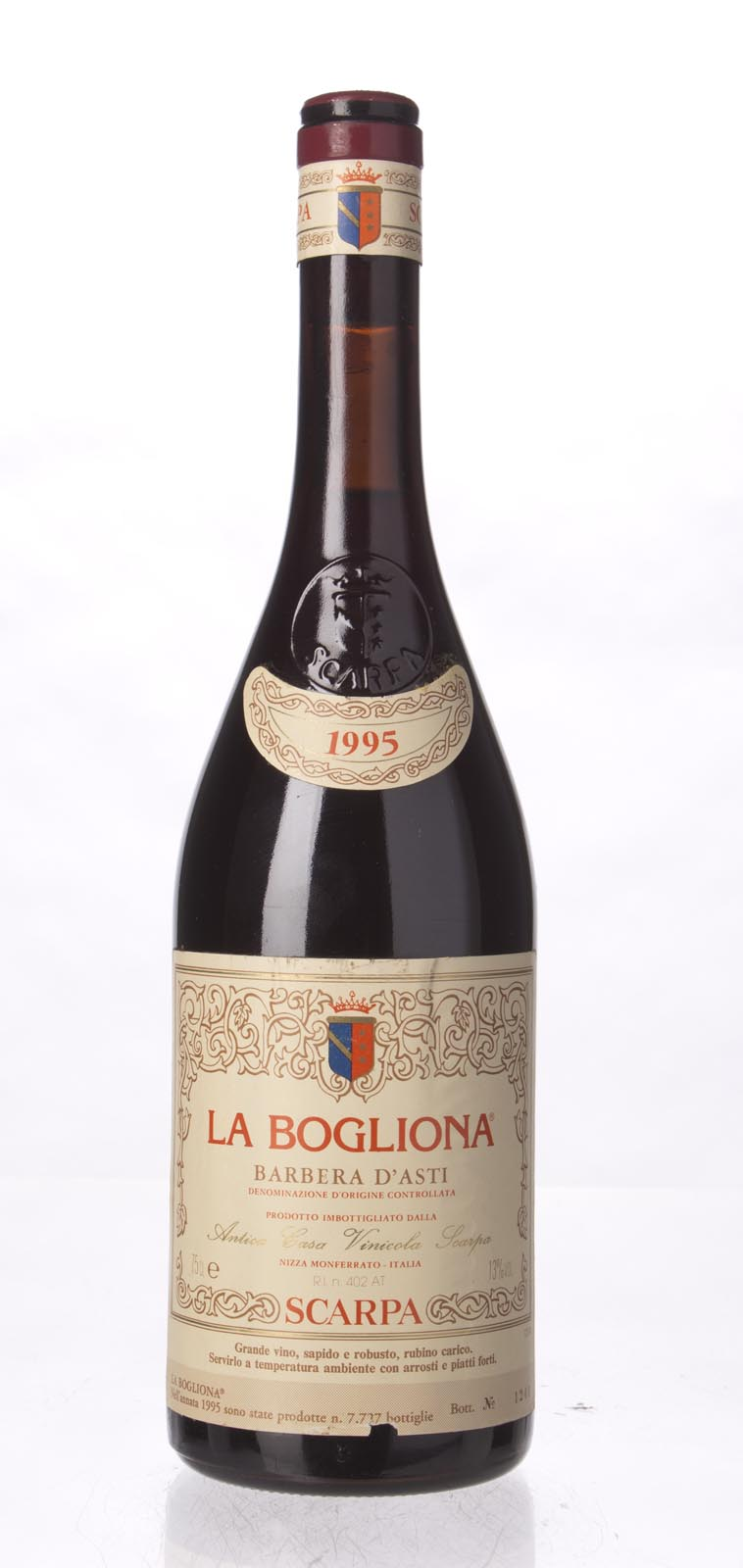 Scarpa Barbera d`Asti La Bogliona 1995, 750mL () from The BPW - Merchants of rare and fine wines.