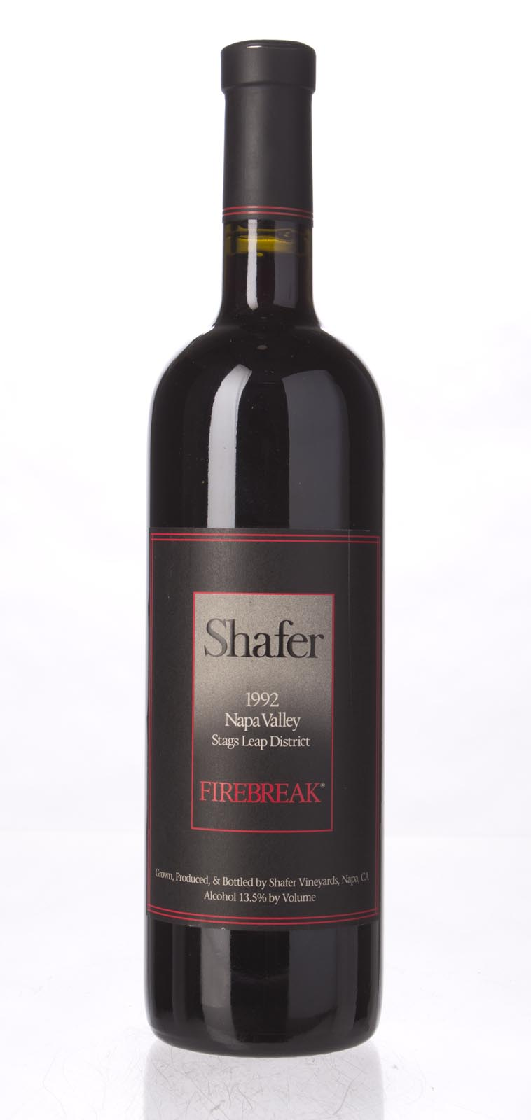 Shafer Firebreak Sangiovese 1992, 750mL (WA88) from The BPW - Merchants of rare and fine wines.