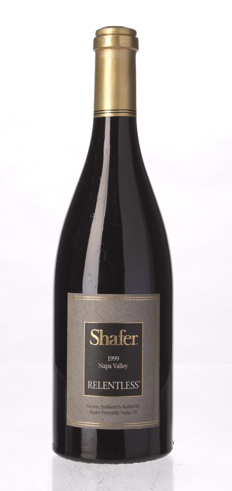 Shafer Syrah Relentless 1999, 750mL (WA93, WS93) from The BPW - Merchants of rare and fine wines.