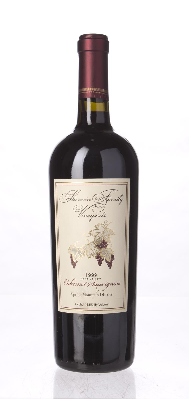 Sherwin Family Cabernet Sauvignon Spring Mountain 1999, 750mL (WS92) from The BPW - Merchants of rare and fine wines.