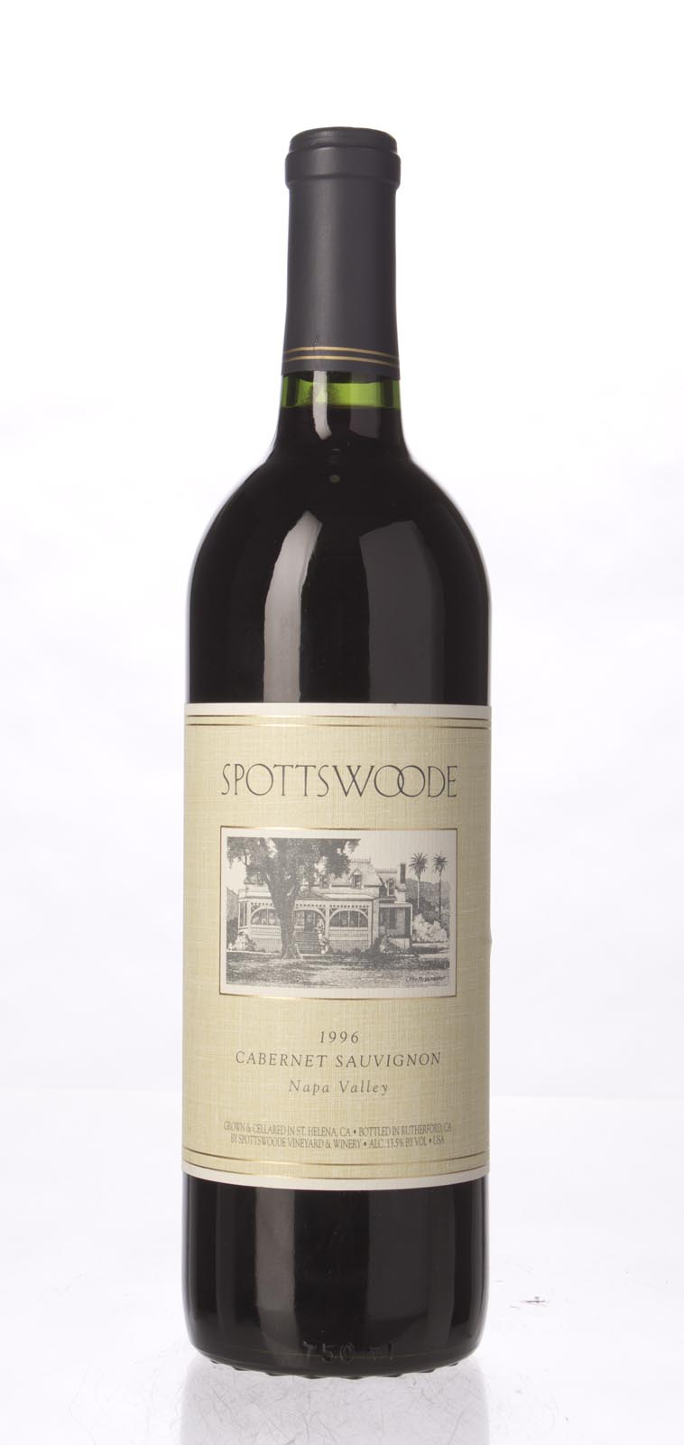 Spottswoode Cabernet Sauvignon Napa Valley 1996, 750mL (WS93) from The BPW - Merchants of rare and fine wines.