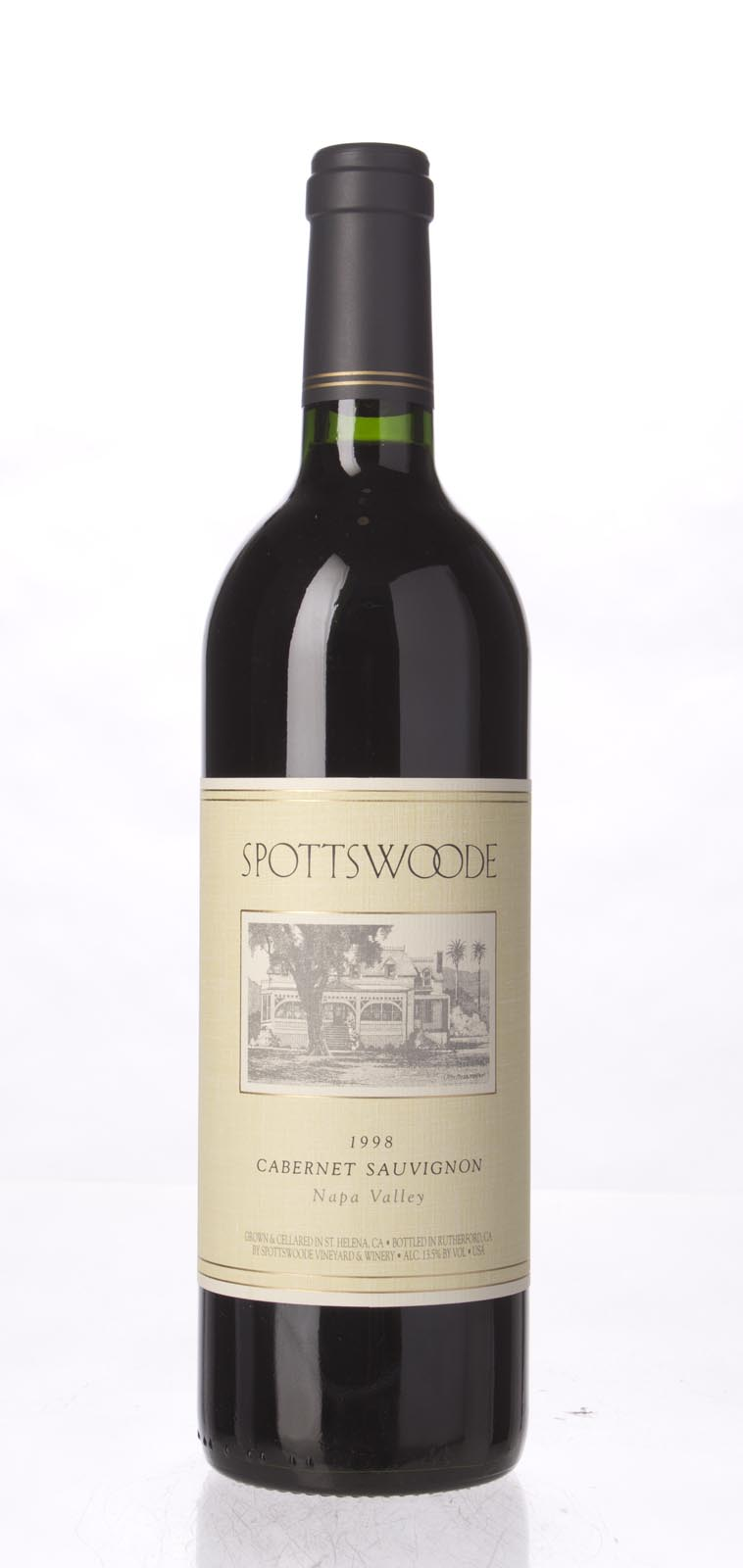 Spottswoode Cabernet Sauvignon Napa Valley 1998, 750mL (WA88-90) from The BPW - Merchants of rare and fine wines.