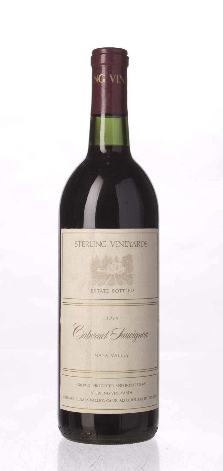 Sterling Vineyards Cabernet Sauvignon Napa Valley 1978, 750mL (WS95) from The BPW - Merchants of rare and fine wines.