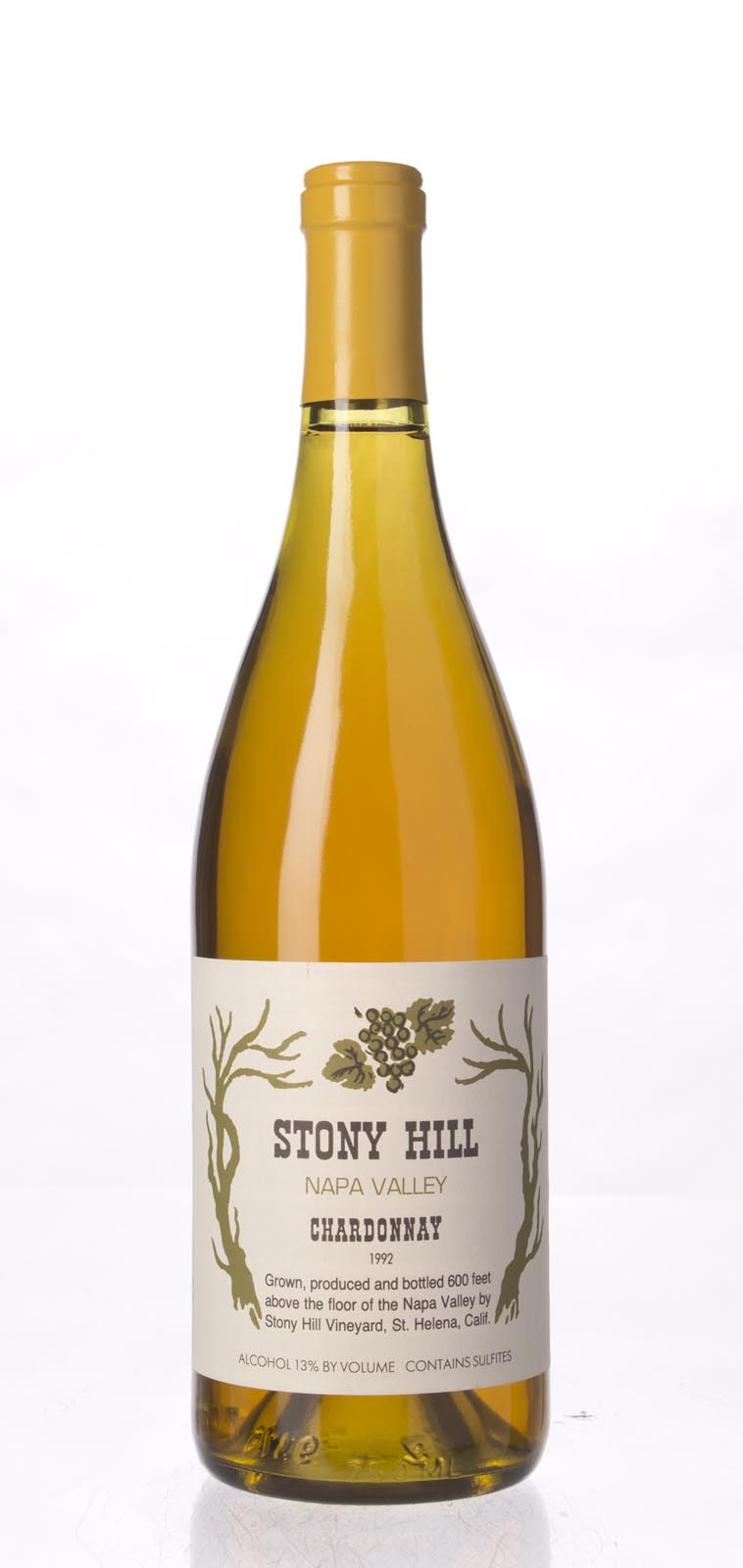 Stony Hill Vineyard Chardonnay Napa Valley 1992, 750mL () from The BPW - Merchants of rare and fine wines.