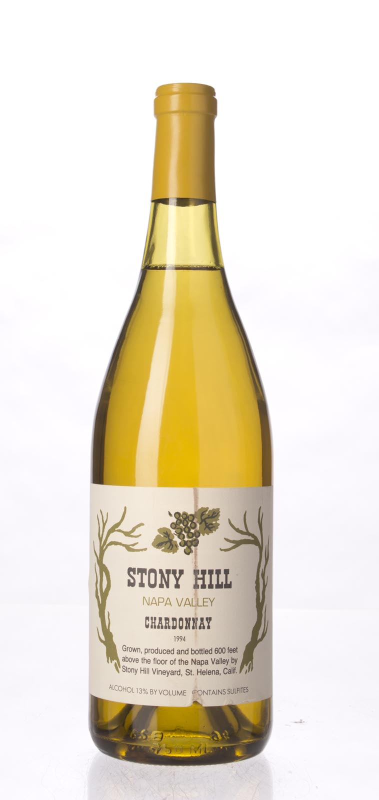 Stony Hill Vineyard Chardonnay Napa Valley 1994, 750mL () from The BPW - Merchants of rare and fine wines.
