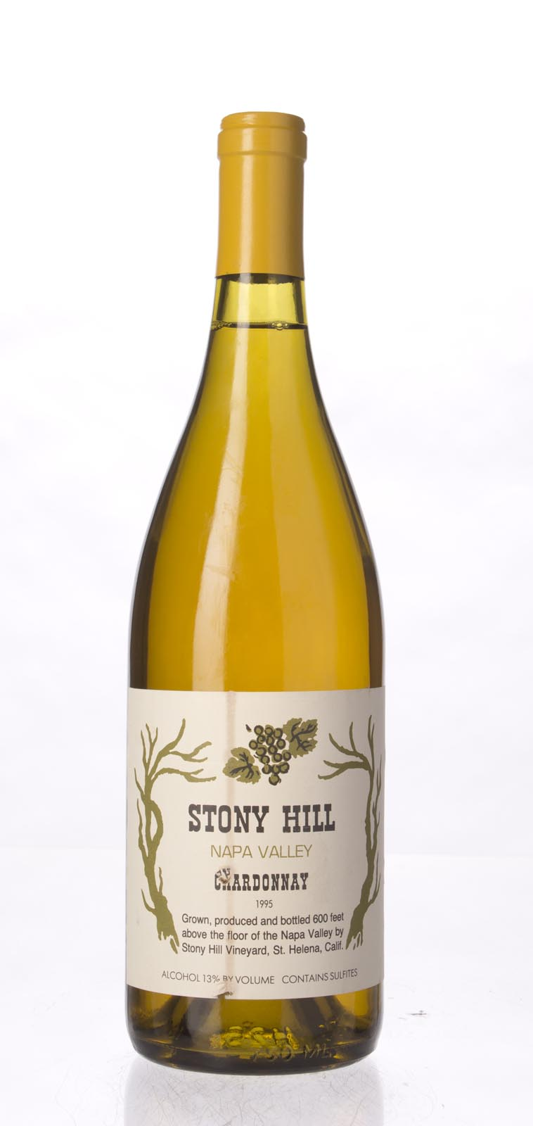 Stony Hill Vineyard Chardonnay Napa Valley 1995, 750mL () from The BPW - Merchants of rare and fine wines.