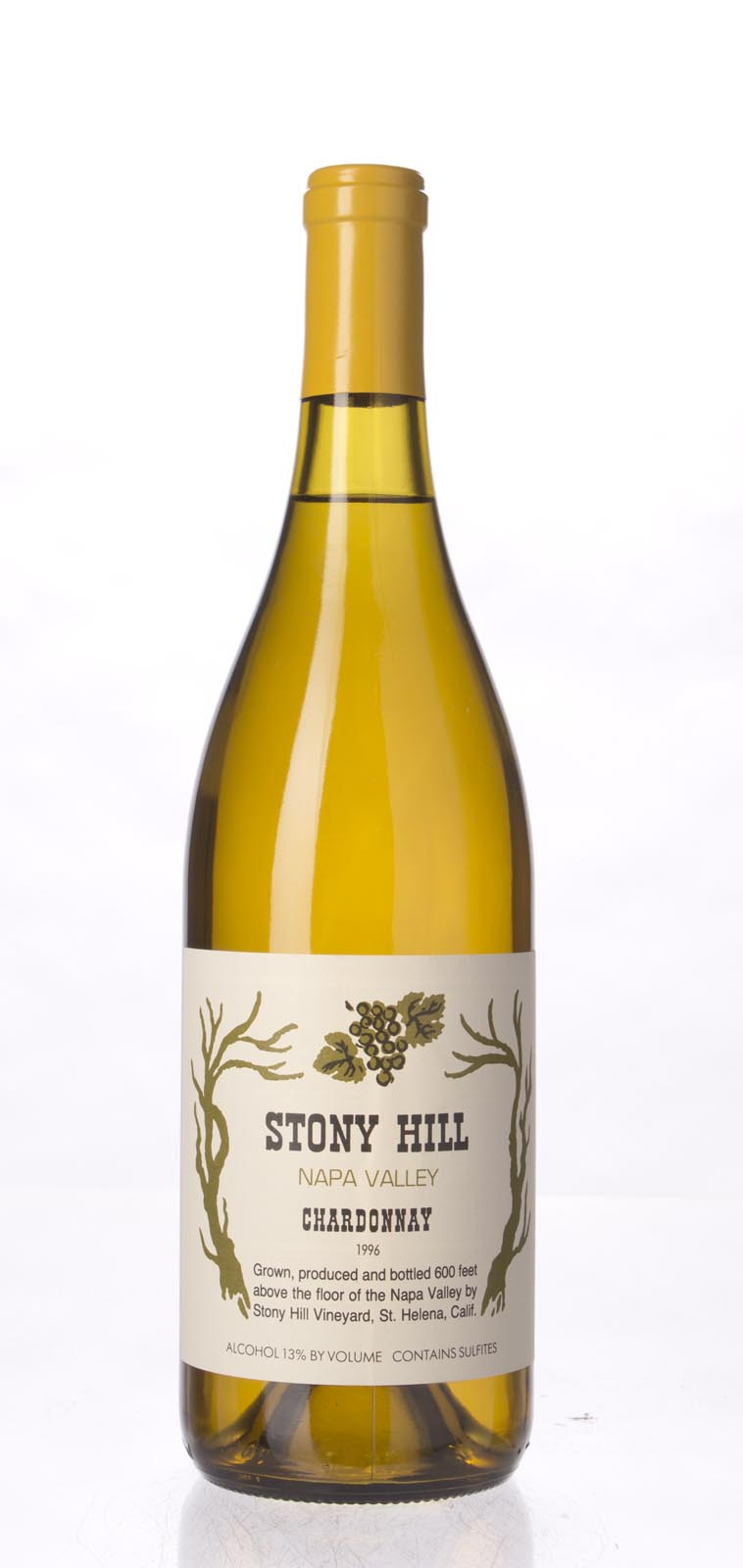 Stony Hill Vineyard Chardonnay Napa Valley 1996, 750mL () from The BPW - Merchants of rare and fine wines.