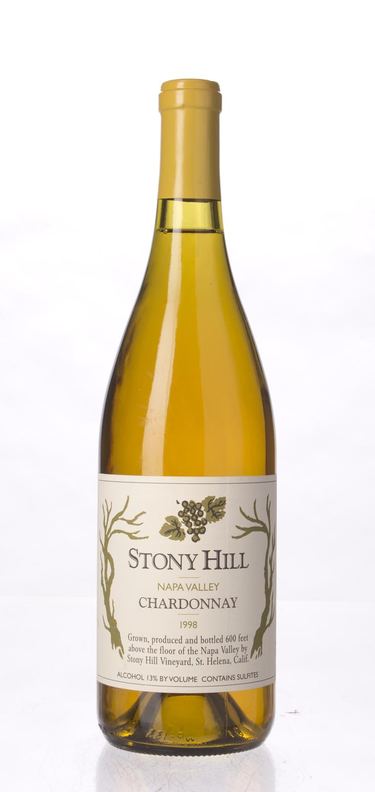 Stony Hill Vineyard Chardonnay Napa Valley 1998, 750mL () from The BPW - Merchants of rare and fine wines.