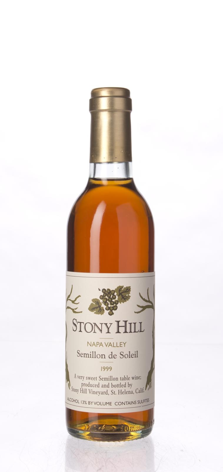 Stony Hill Vineyard Semillon de Soleil 1999, 375ml () from The BPW - Merchants of rare and fine wines.