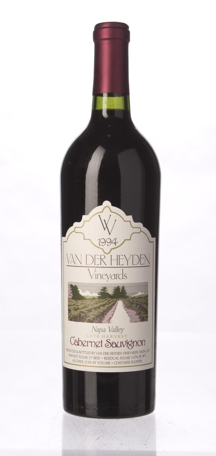 Van Der Heyden Vineyards Cabernet Sauvignon Late Harvest 1994, 750mL () from The BPW - Merchants of rare and fine wines.