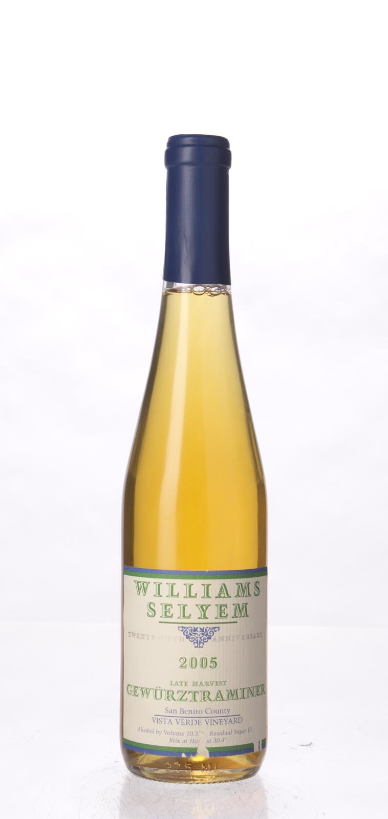 Williams Selyem Gewurztraminer Vista Verde Vineyard Late Harvest 2005, 375ml () from The BPW - Merchants of rare and fine wines.