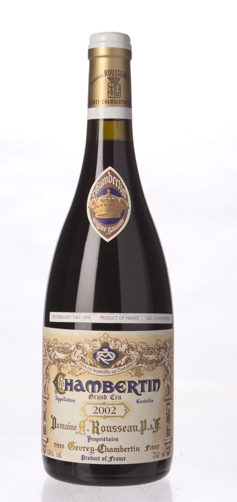 Domaine Armand Rousseau Chambertin 2002, 750ml (WA94-96, ST95) from The BPW - Merchants of rare and fine wines.