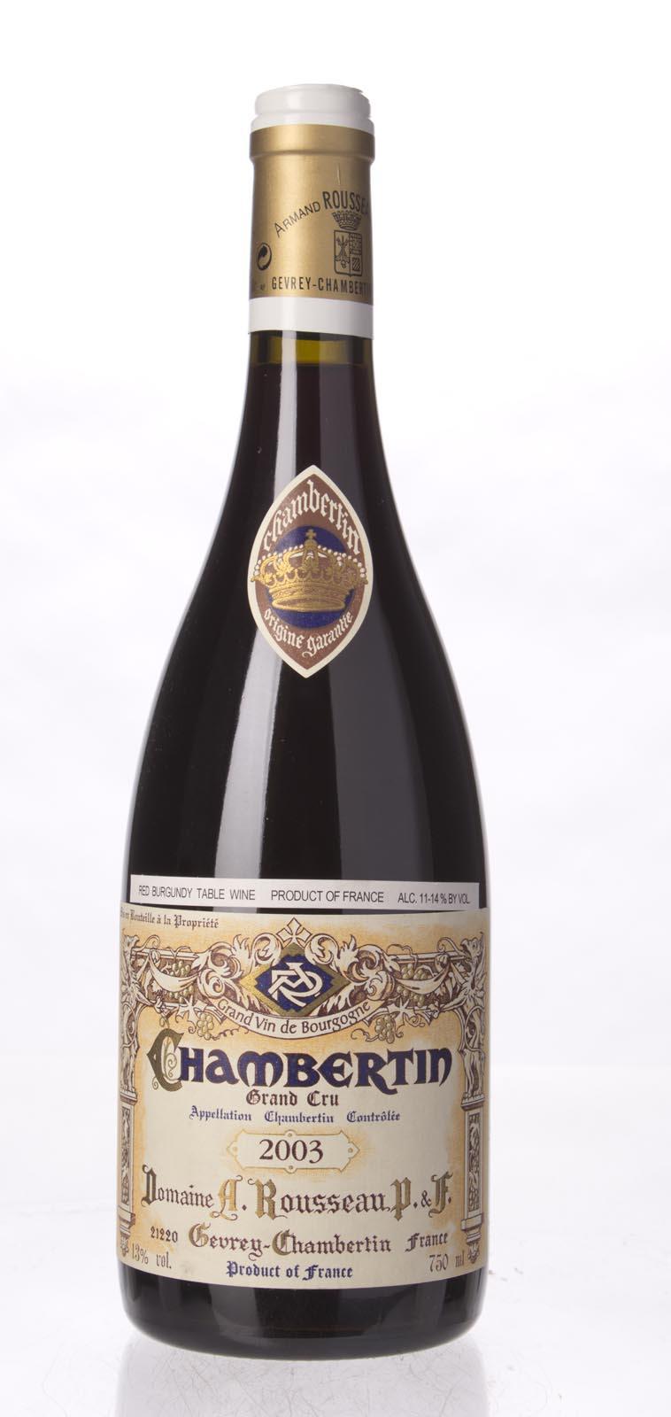 Domaine Armand Rousseau Chambertin 2003, 750ml (WS96) from The BPW - Merchants of rare and fine wines.