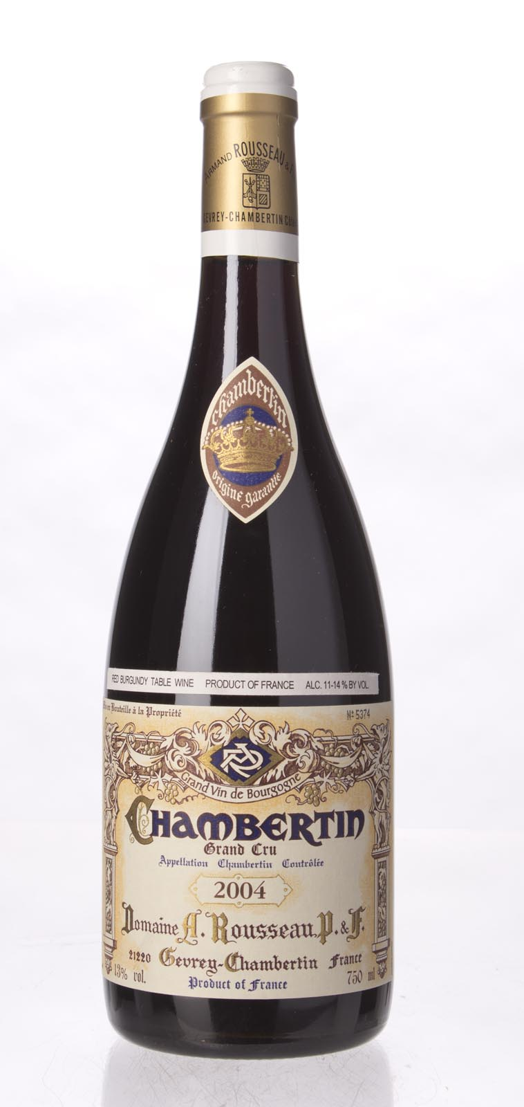Domaine Armand Rousseau Chambertin 2004, 750ml (BH93, ST92+) from The BPW - Merchants of rare and fine wines.
