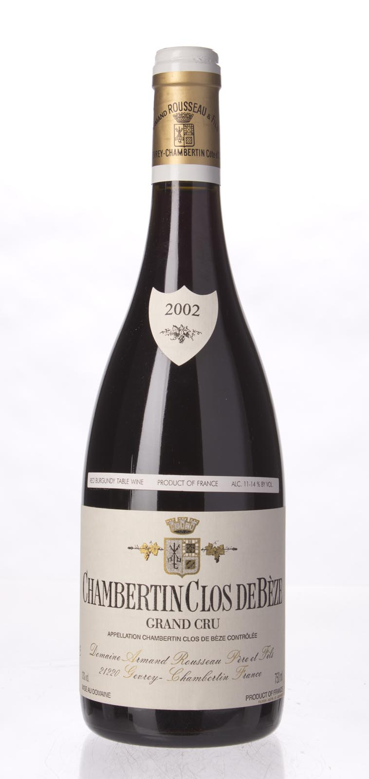 Domaine Armand Rousseau Chambertin Clos de Beze 2002, 750ml (WA94-96, ST94) from The BPW - Merchants of rare and fine wines.