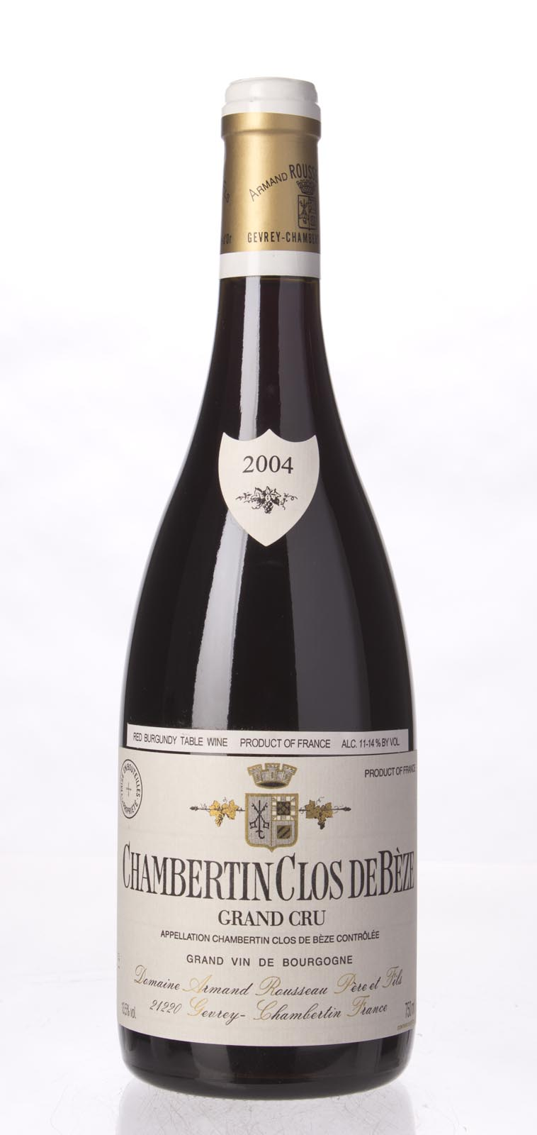 Domaine Armand Rousseau Chambertin Clos de Beze 2004, 750ml (BH93, ST92) from The BPW - Merchants of rare and fine wines.