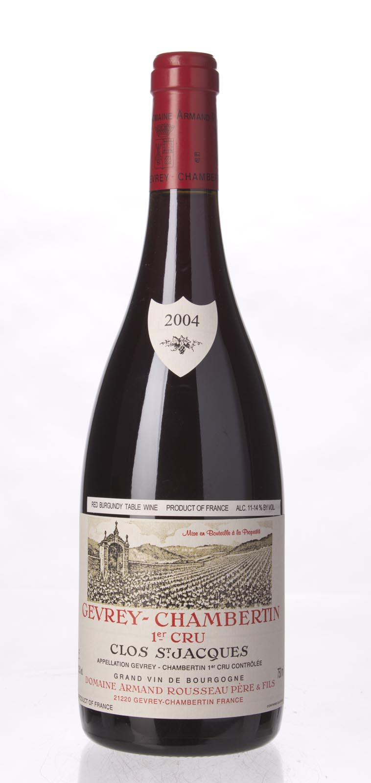 Domaine Armand Rousseau Gevrey Chambertin Clos St. Jacques 2004, 750ml (BH92, ST91+) from The BPW - Merchants of rare and fine wines.