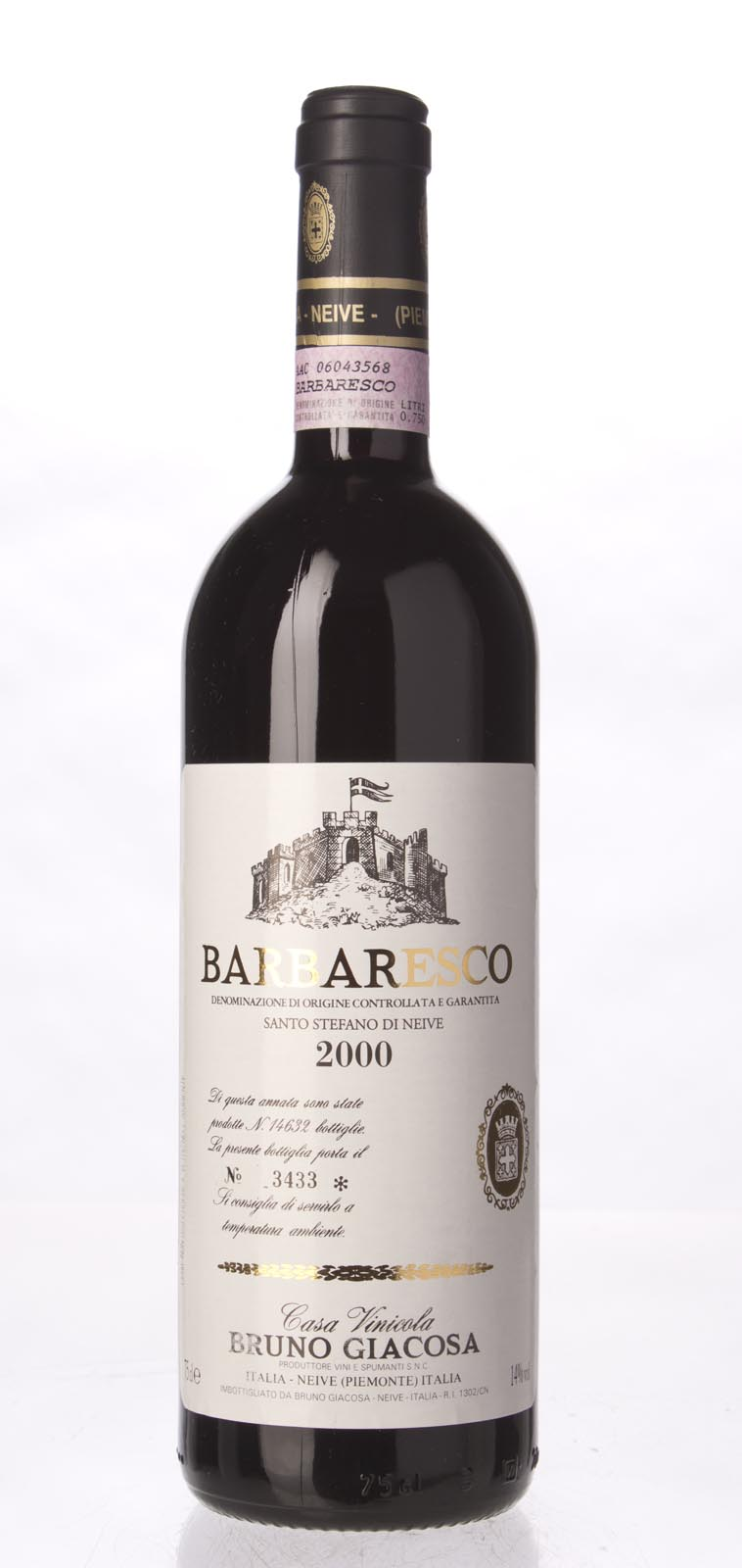 Bruno Giacosa Barbaresco Santo Stefano di Nieve 2000,  (WA93, ST93, WS93) from The BPW - Merchants of rare and fine wines.